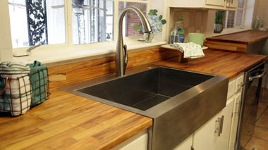 Finish Install Wood Countertops